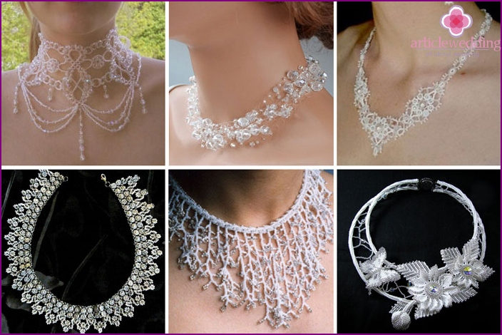 Fancy necklace for the bride