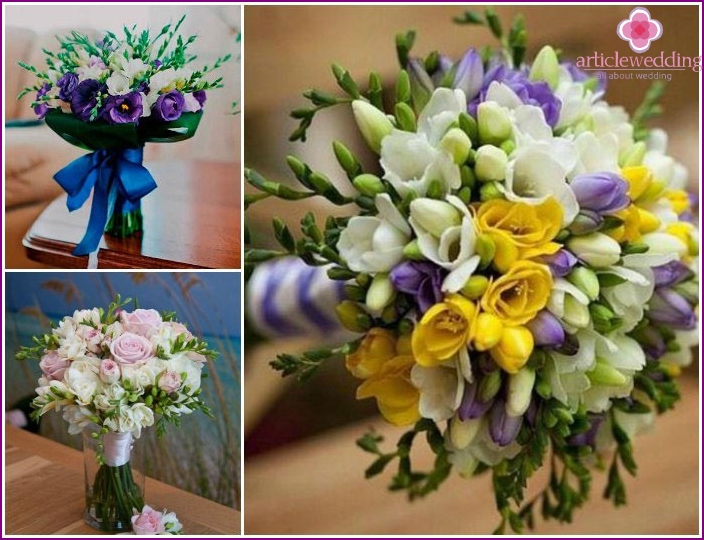 Composition with aristocratic wedding flowers