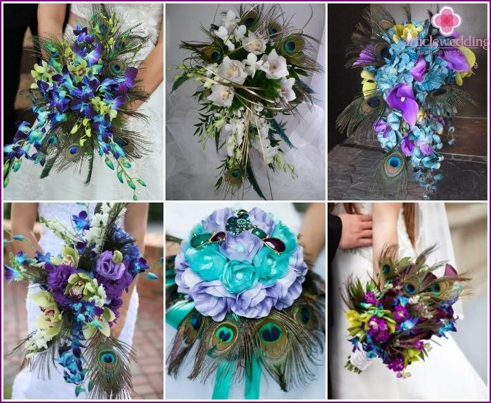 Cascading floral arrangements