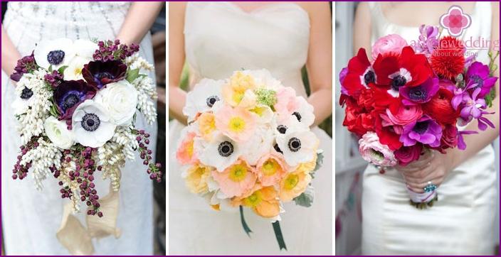 Bright floral accessory bride