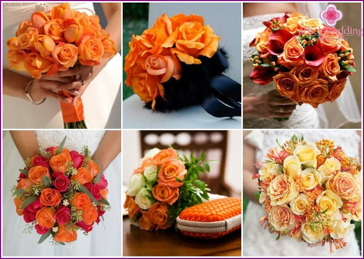 Floral accessories for the bride with roses