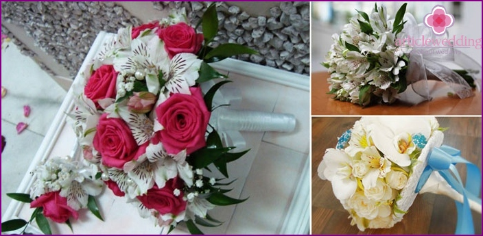 Options bouquets with roses