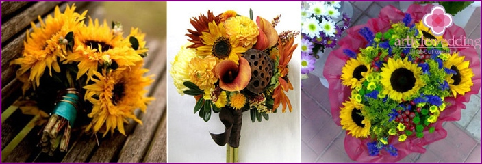 Options bouquets for the bride