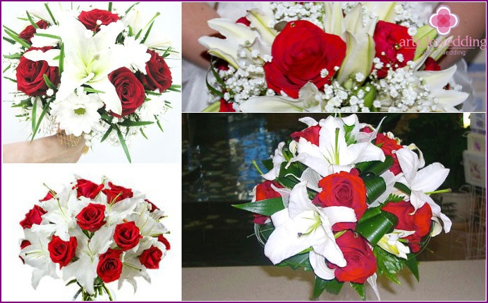 Lily bouquet for the bride