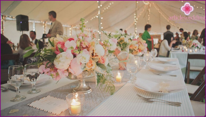 Festive table propionic wedding