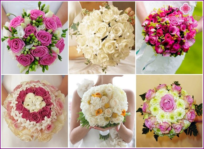 Flower arrangements for the bride