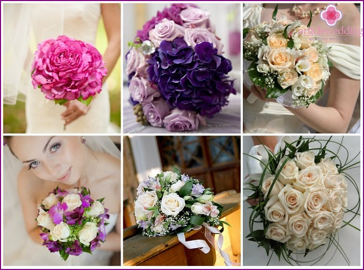 Flower accessory for wedding - hemisphere
