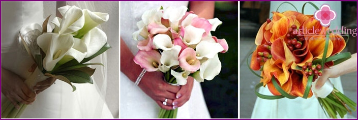 Callas for the bride's bouquet
