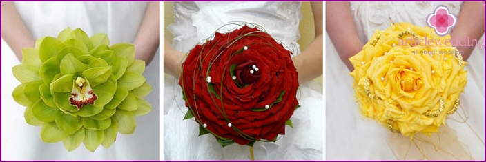 Unusual wedding bouquet glameliya