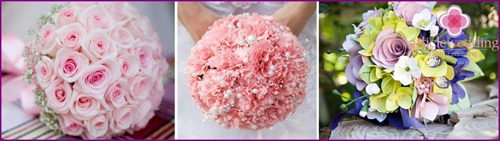 Round wedding bouquet