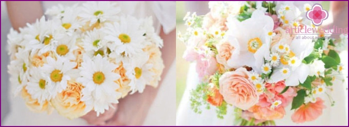 Funny and cute daisies on wedding
