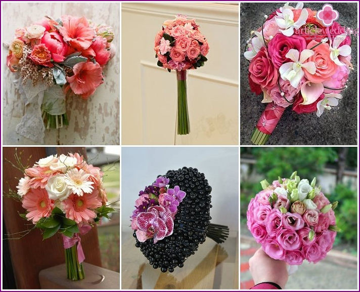 Flowers for a wedding in pink