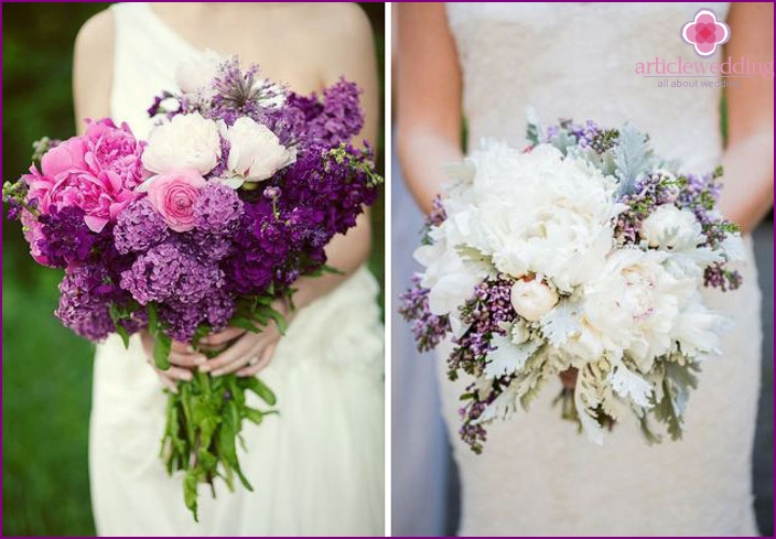 The value of a lilac in a wedding bouquet