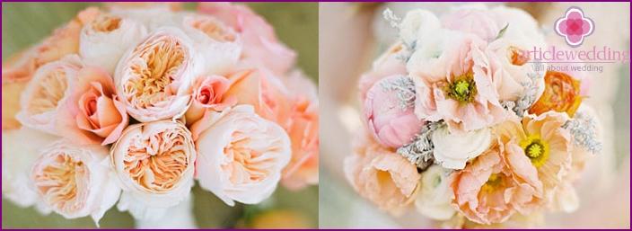 Wedding bouquet of peonies
