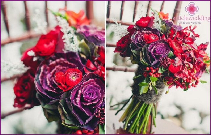 Purple palette wedding bouquet