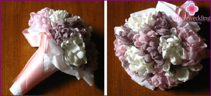 Bouquet of polyester fabric