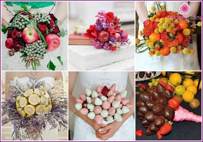 Wedding designer fruity bouquet