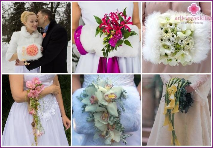 Designer flower clutch for the bride