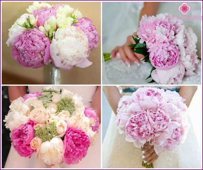 Flower arrangements with peonies