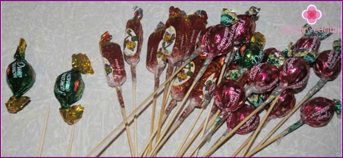 Sweets on skewers