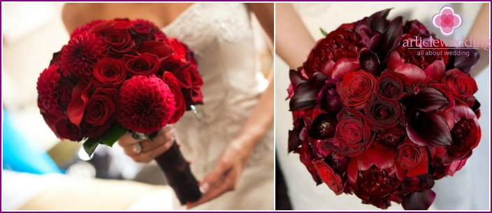 The combination of noble colors with delicate peony