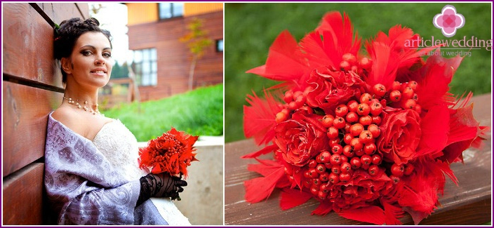 Rowan - a decoration for a bouquet of roses