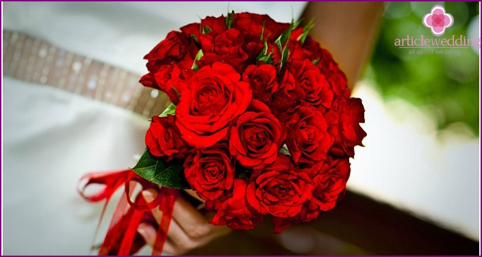 Classic red bouquet with roses
