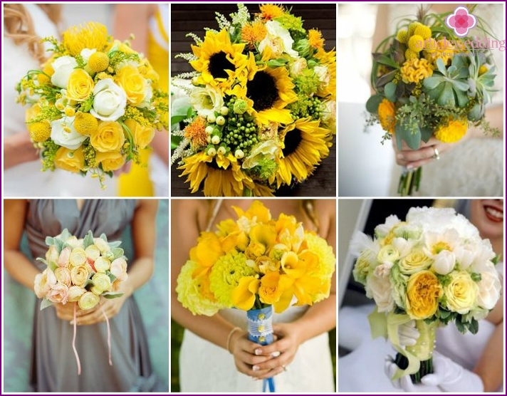 The choice of flower arrangements for the bride