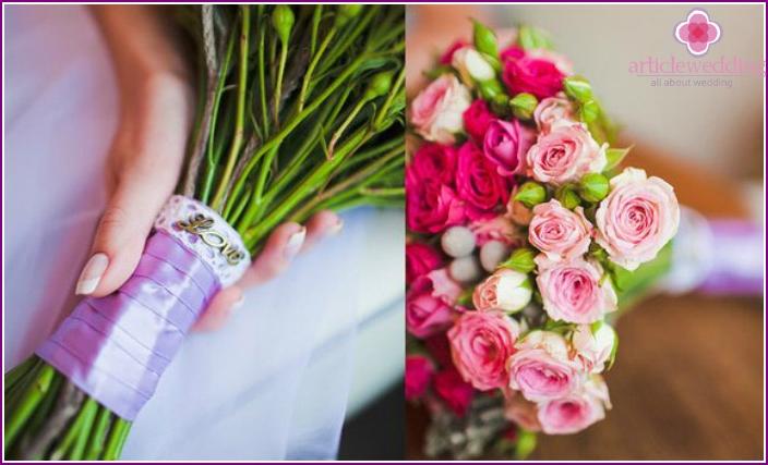 Bright wedding bouquet bride attribute
