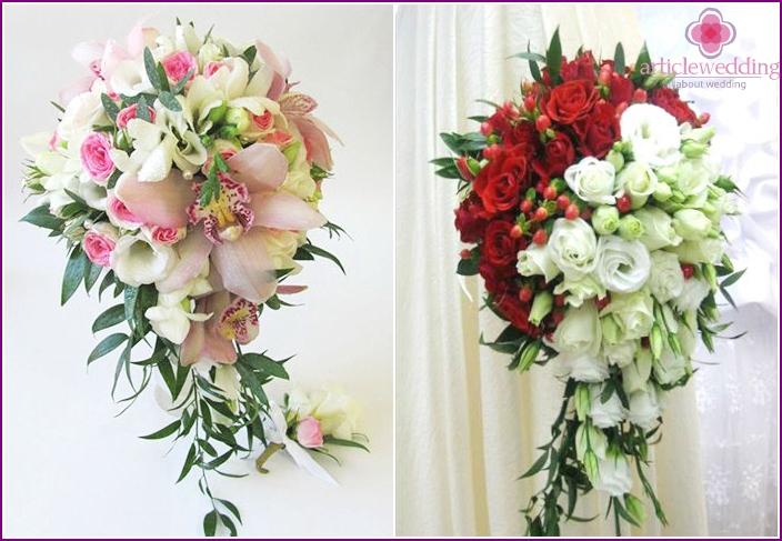 The original cascading bridal bouquet