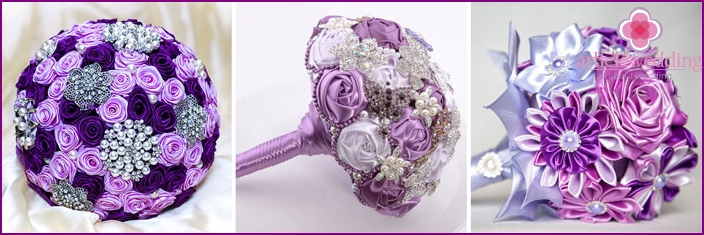 Purple bouquet for the bride