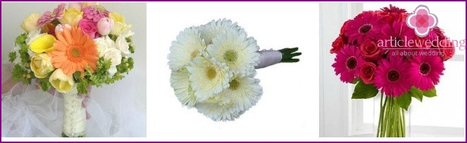 Wedding bouquet: gerbera