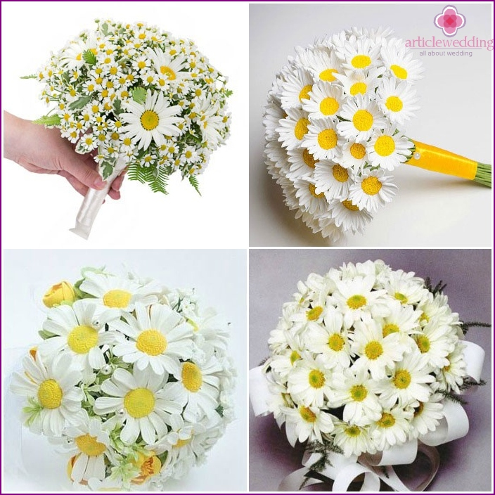 Wedding Bouquet: chamomile