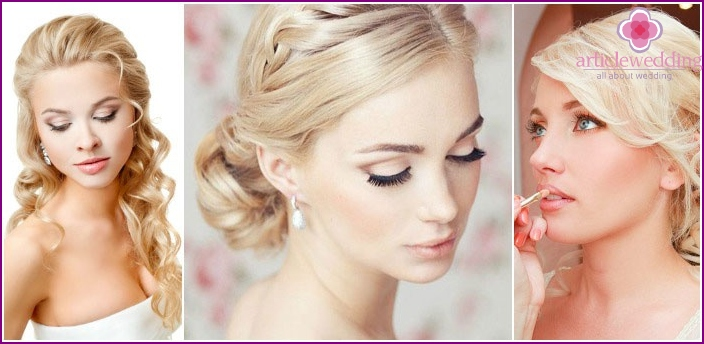 Wedding makeup for blondes