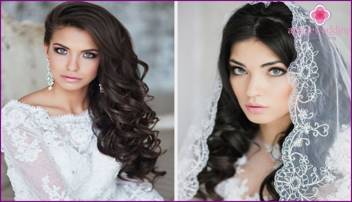 Wedding Makeup for blue-eyed brunettes