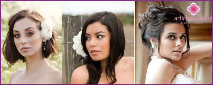 Bridal makeup: Photo framework for brunettes