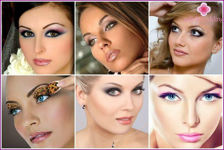 Choosing eye shadow wedding make-apa