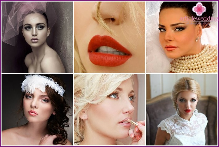 Bride make-up lips
