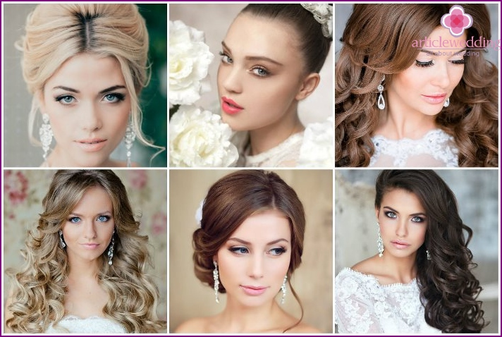 Photos of the wedding makeup for brides
