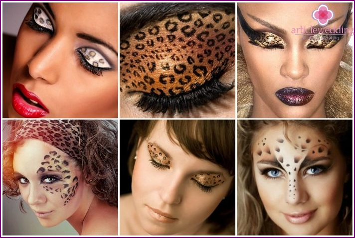 Leopard eccentric make-up for brides