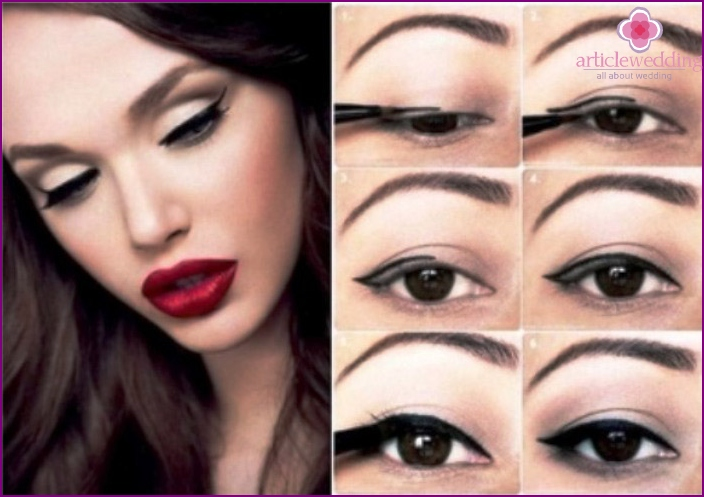 Step by step instructions applying the classic makeup