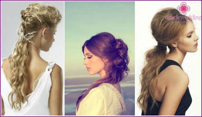 Wedding Hairstyles in Greek on long hair