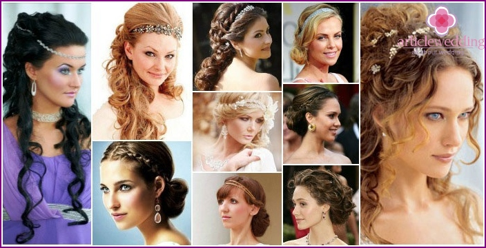 Photo: Greek hairstyles for wedding