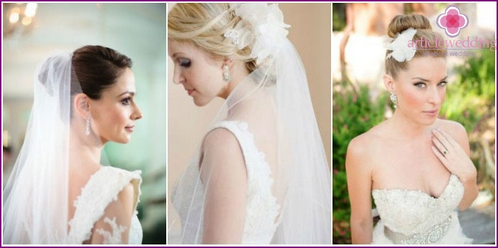 Bunches and veil in wedding trends