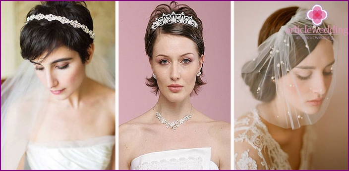 The elegant versions with a diadem