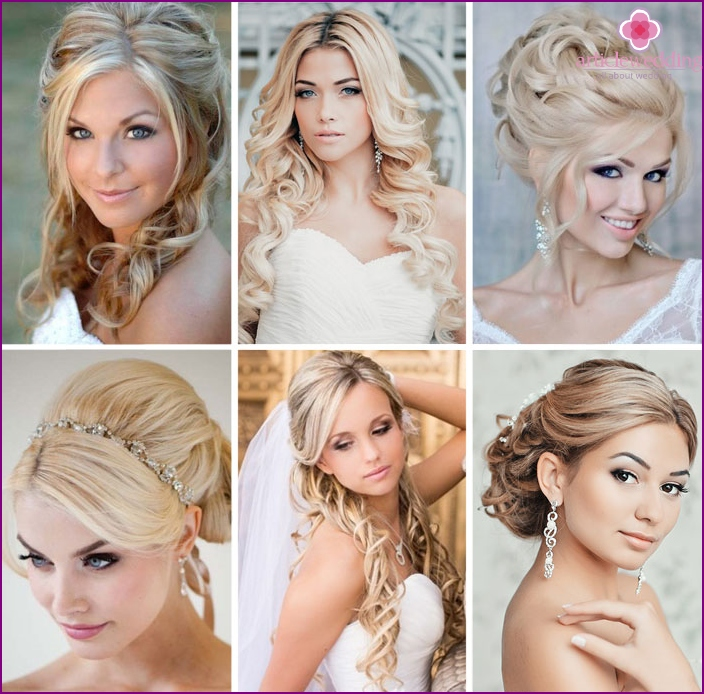 Wedding hairstyles for blondes