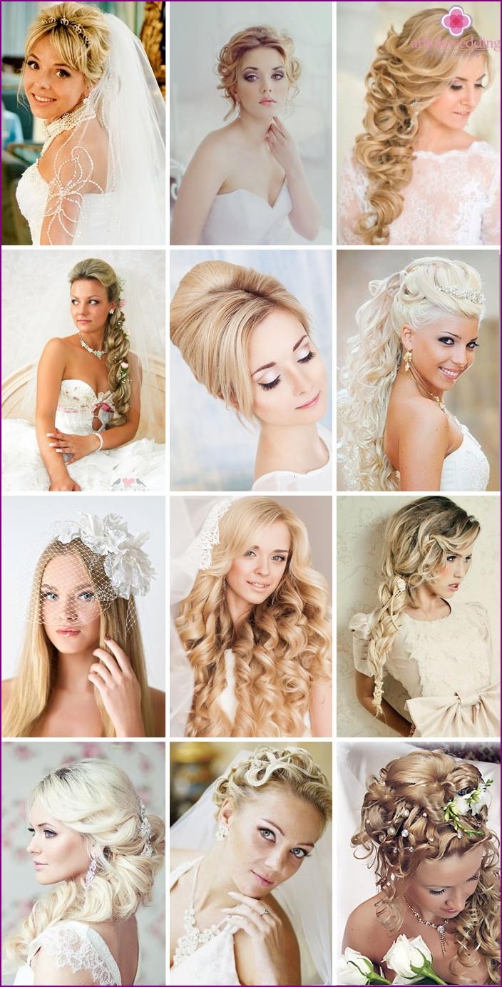 Wedding styling for light hair