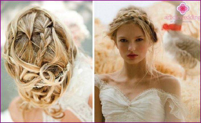Прически для круглого лица на длинные волосы свадебные