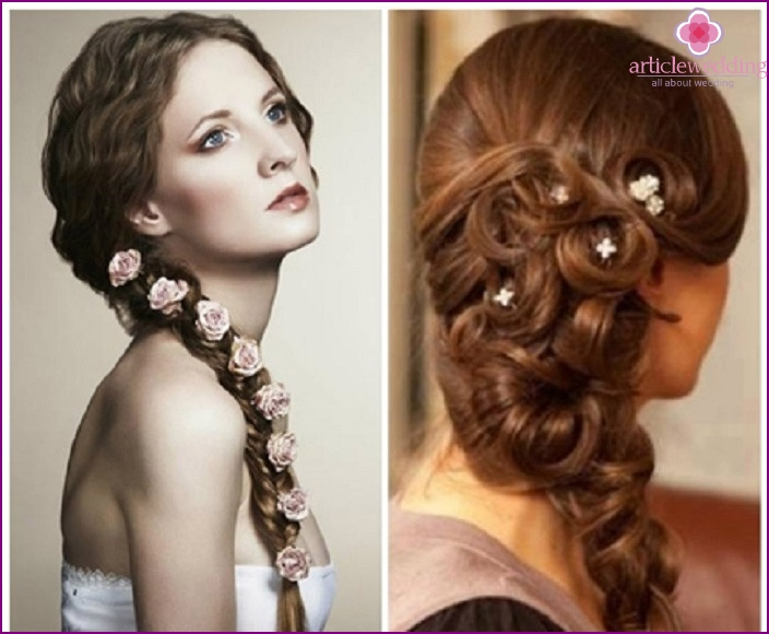 Cute decorations for wedding braids