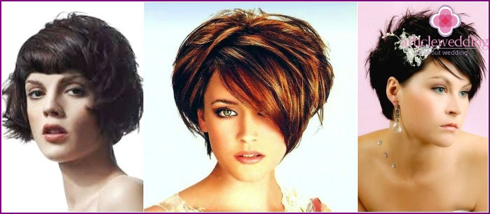 Saucy style wedding hairstyles for girls shorthair